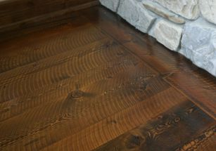 Stained Circle-Sawn Mission Mountain Fir/Larch Flooring